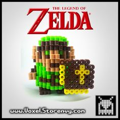 This+is+a+Retro+Link+(The+Legend+of+Zelda)+I+made+in+the+cool+new+3d+perlerbead+art+style!+  Products+are+made+to+order+and+do+take+about+a+week+to+make+depending+on+the+order.  Please+Like+Voxel+on+Facebook! http://facebook.com/voxelperlers  (These+products+are+for+sale,+therefore+I+do+no...