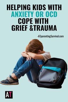 Experiencing trauma or grief is hard for anyone, but for children with anxiety or OCD, it is even more difficult. Here are some tips for coping with trauma and grief and how to help your child with OCD or anxiety keep their head above water. Ocd In Children, Anxiety In Children, Adhd Kids, How To Calm Anxiety, Stress And Anxiety, Anxiety Relief, Coping Skills, Grief