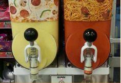 Om 16 uur geen soep, maar een pizza of spaghetti ijsjes.... BLAH!  #ijstrends #gelato