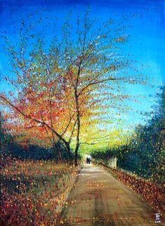 Autumn walk - Dec 2014 - Thao  Acrylic - 81x60