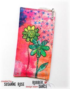 Susanne Rose Designs: DIY Cell Phone Case with Rubber Dance Stamps