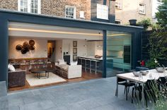 a Dream Veranda for your Home Fabulous terrace. London Townhouse by The Silkroad Interior DesignFabulous terrace. London Townhouse by The Silkroad Interior Design London Townhouse, London House, House Extension Plans, House Extension Design, House Design, Rear Extension, Glass Extension, Extension Ideas, Garden Room Extensions