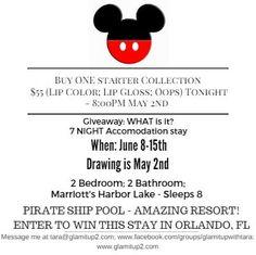 Join LIVE Tues/Thurs @ 8:30pm EST www.facebook.com/groups/glamitupwithtara #Disney #freetrip  #longlastinglips #marriott @disney @marriott
