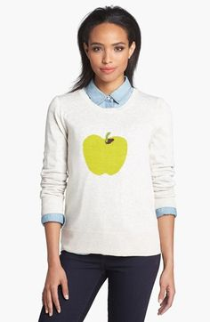 Halogen® Intarsia Knit Sweater (Regular & Petite) available at #Nordstrom.  Size small (reg)