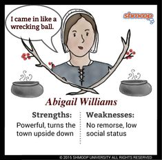 Everything you ever wanted to know about Abigail Williams in The Crucible, written by masters of this stuff just for you. Ela Classroom, English Classroom, Gcse Drama, Weird Sisters, Salem Witch Trials, High School English, English Literature, Special Education, American