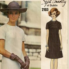 A Couturier Dress Pattern by Sybil Connolly: Short Sleeves, Back Zip, Jewel Neckline, Yoke Detail  by So Sew Some!