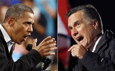 Romney and Obama fighting for themselves during the election.