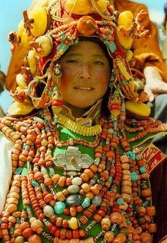Khampa Tibetan Costume at Litang by kayforest, via Flickr
