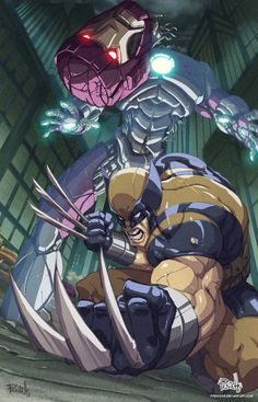 Wolverine by Fernando Peniche. It would be great if the new X-Men movie Sentinels would be model after this image.