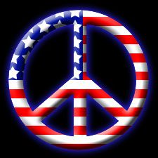 Peace Sign - Red White & Blue