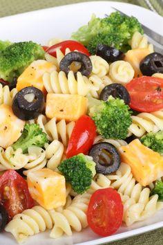 Loaded pasta salad recipe pasta salad and pasta for Italian entree recipes