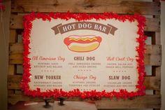 Hot dog bar menu. Lauren Haddox Design.