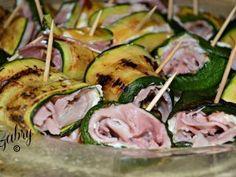 Involtini di zucchine grigliate con robiola e prosciutto cotto arrosto, Ricetta Petitchef