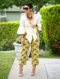 DIY WRAP TOP AND PANTS USING VOGUE #9315 & #9181   Mimi G Style