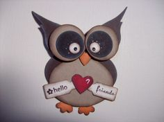 sweet owl - Bird punch for his head! Stampin' Up Punch Art