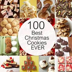 No bakes, classic cookies, crispy treats, cookies that start with a mix, tassies...the list of fantastic, time-tested cookies in this collection goes on and on (well, technically we limited it to 100, but that should last you until Santa arrives). Read on for recipes featuring our best-ever Christmas cookie creations./