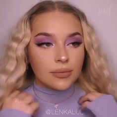 We're going straight into lilac dreams with this gorgeous makeup look! Makeup Vs No Makeup, Glamour Makeup, Glossy Makeup, Cheap Makeup, Makeup Set, Make Up Loreal, Make Up Kits, Beauty Make-up, Beauty Bay