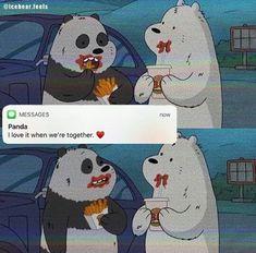 Nguồn: IG Iphone Wallpaper Music, Bear Wallpaper, Kawaii Wallpaper, We Bare Bears Wallpapers, Panda Wallpapers, Cute Cartoon Wallpapers, Foto Cartoon, Bear Cartoon, Ice Bear We Bare Bears