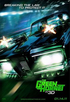 The Green Hornet (2.5 stars) Disappointing. Played too much in the comedic vein, which isn't surprising considering it was written by Rogan and company. Rogan is miscast as Green Hornet. Chou does Bruce Lee's memory proud. Modernizing the setting also didn't help. This type of hero, everyday man with no training, doesn't fly in today's world. Way too long to support very little story. The car is awesome though.