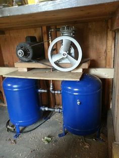 35gal homemade air compressor completed!!