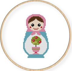 Instant Download,Free shipping,Cross stitch pattern, Cross-StitchPDF,Russian Doll,Matryoshka  Babushkas,zxxc0017