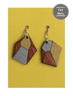 Geometric earrings by CutOutsProductDesign on Etsy