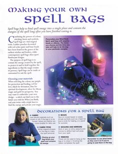 Enhancing Mind Body Spirit 22 Casting Spells Card 38 Making Your Own Spell Bags