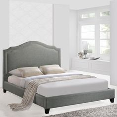 Modway Furniture Modern Charlotte Queen Bed Frame , Beds - Modway Furniture, Minimal & Modern - 6