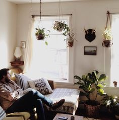 Plant and light-filled living room!