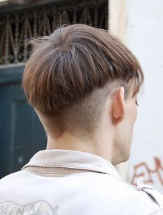 Cool Short Mushroom Haircut for Men