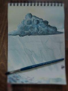 Rainy Cloud - Aquarell Painting Manga Anime, Fantasy Art, My Arts, Clouds, Drawings, Painting, Watercolor, Fantastic Art, Painting Art