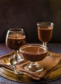 chocolate panna cotta.
