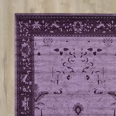 Bungalow Rose Imperial Purple Area Rug & Reviews | Wayfair