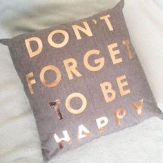 How gorgeous is my new cushion? Grey and rose gold are so good together.