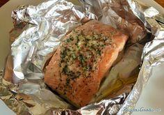 Papillote de salmón al horno