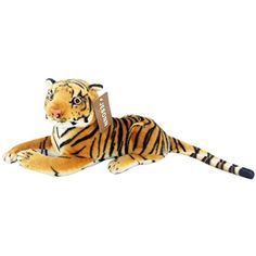"Jesonn Realistic Small Stuffed Toy Animals Tiger Calf Plush for Kids' Birthdays Gifts,12"" or 30CM,Yellow,1PC * Check out this great product. (This is an affiliate link) #StuffedAnimalsTeddyBears"