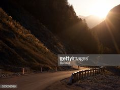 Stock-Foto : Mangart Pass, highest road in Slovenia, at sunset overlooking the Julian Alps, Triglav National Park, Slovenia, Europe