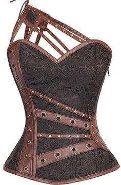 Sample-Size 26-Dragon Heart Brown Corset #thevioletvixen
