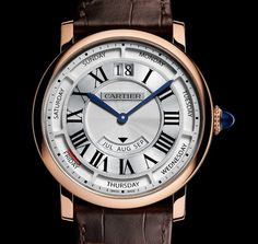 "Cartier Rotonde De Cartier Annual Calendar Watch New For 2015 - by James Stacey - see more about Cartier's upcoming release on aBlogtoWatch.com ""What a wonderful time of year, when many brands start to slowly show what they have been working on for SIHH 2015. Cartier is kicking off the new watch season with their announcement of the Rotonde De Cartier Annual Calendar..."""