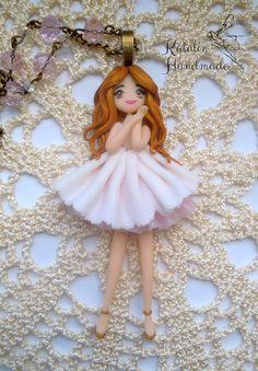 Sweet dancer chibi girll ooak doll by KatalinHandmade