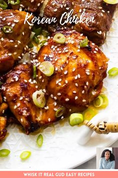 Korean chicken bulgogi aka dak bulgogi is one easy recipe and full of flavor. It can be grilled, baked or cooked on the stove-top. Perfect for busy weeknights. Serve it with cucumber and carrot salad, or as lettuce wraps. #chicken #koreanchicken #dinner #whiskitrealgud @whiskitrealgud | whiskitrealgud.com