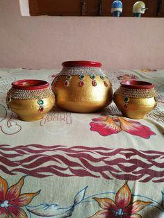 Housewarming Decorations, Diy Diwali Decorations, Diy Wedding Decorations, Festival Decorations, Flower Decorations, Art N Craft, Craft Work, Upcycled Crafts, Diy Crafts
