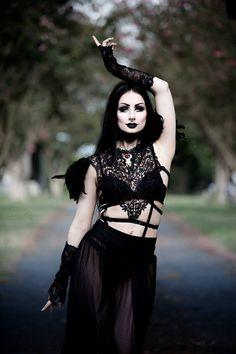 "gothicandamazing: ""Model: TheBlackMetalBarbie Photography: Luke Guinn Photography Harness: LDC Little Devil Creations Gloves: Ghoulish Girls Welcome to Gothic and Amazing | www.gothicandamazing.com """