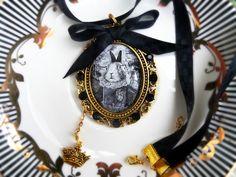 Baśniowy naszyjnik na wstążce - Victorian----rose - Naszyjniki na tasiemce