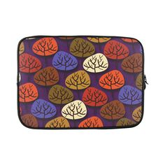 Cool Abstract Red Blue Brown Trees Macbook Pro 15''