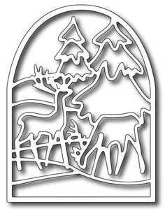 Frantic Stamper Precision Die - Deer Stained Glass,$13.99