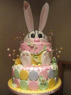 Bunny easter cake