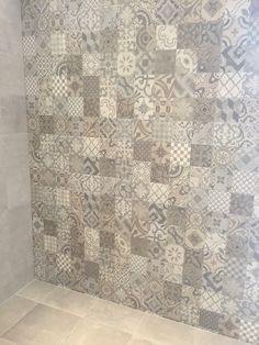 Porcelanosa Dover Antique neutral mix traditional square tile... Use this a part of kitchen, breakfast, laundry room accent, repeat in bath as well. Make sure floor material and style flow consistently in the house in cohesive way