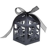 50x Halloween Design Chocolate Candy Box Favor Bridal Party Accessory Black