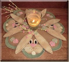 Cath's Pennies -- Cute spring candle mat